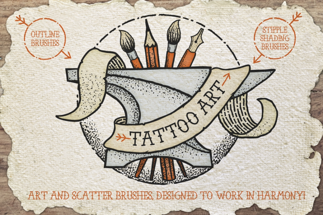 Tatoo-brushes_stipple_Outline_1