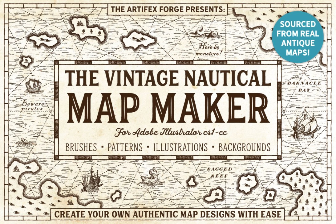 Vintage Nautical Map Maker_1