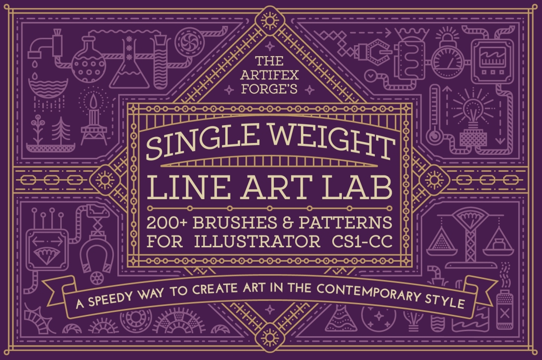 single-weight-line-art-brushes_Preview-1